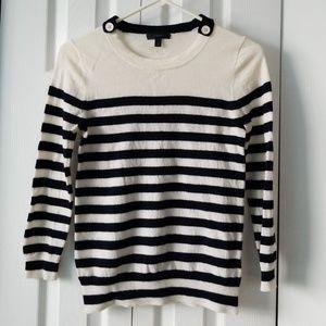 J crew button collar sweater